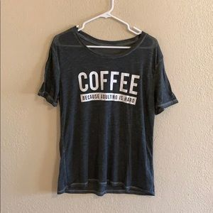 unbranded Tops - COFFEE T Shirt- Unbranded